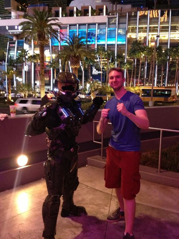 Me with Master Chief in Las Vegas!