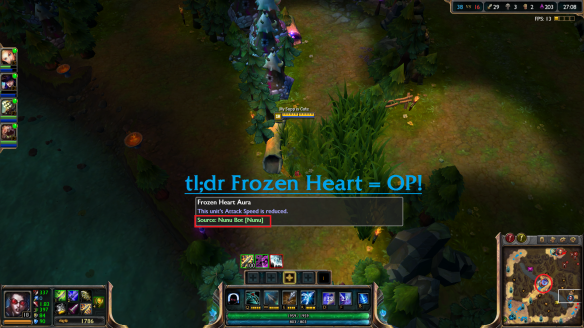 League of Legends Frozen Heart OP